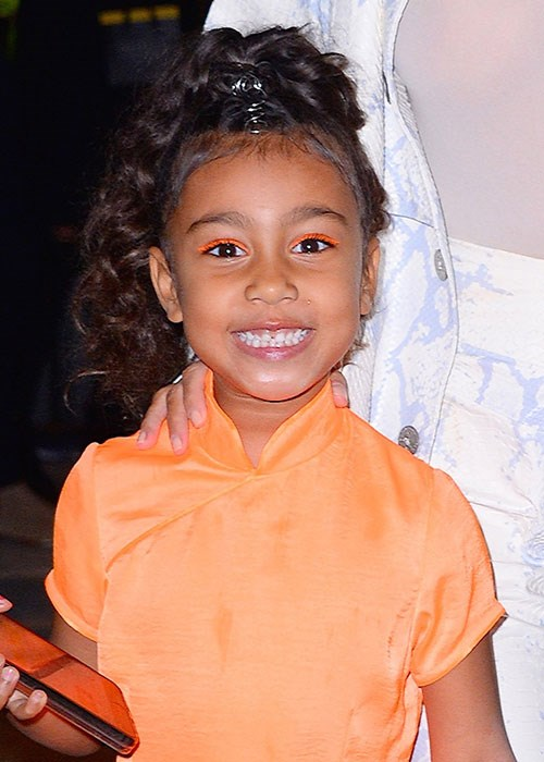 North West's Orange Eyeliner