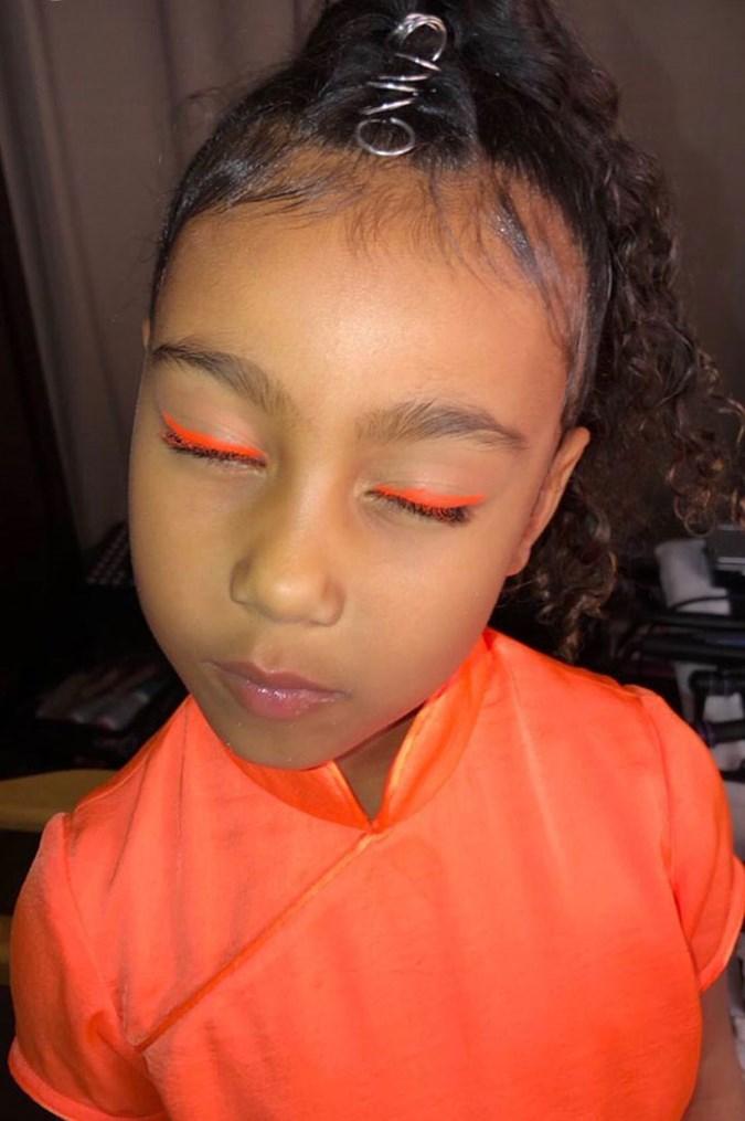 Image result for north in orange eyeliner