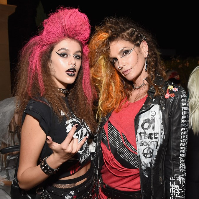 Kaia Gerber and Cindy Crawford Halloween look