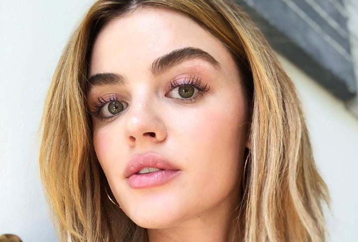 Lucy Hale's brow transformation
