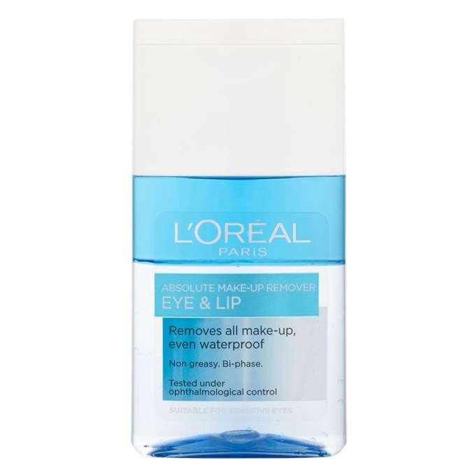 L'Oréal Paris Eye Make-Up Remover for Eyes and Lips