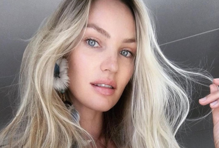 Candice Swaneopol's beachy hair trick