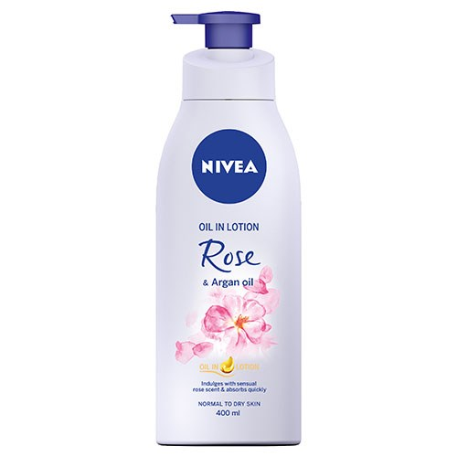 NIVEA Oil Infused Lotion Rose & Argan Oil