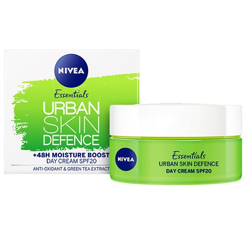 NIVEA 1 Minute Urban Skin Defence +48h Moisture Boost Day Cream