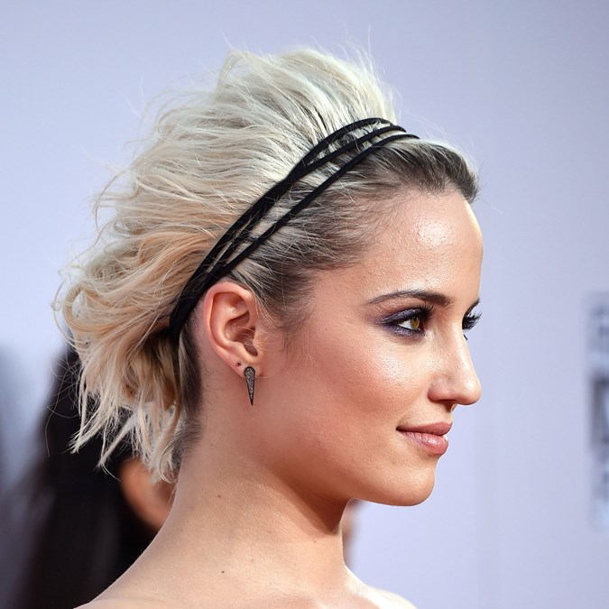Dianna Agron black headband