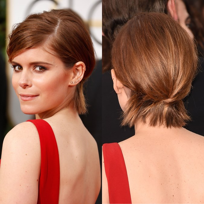 Kate Mara twisted updo