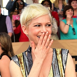 Michelle Williams laughing
