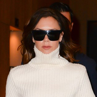 Victoria Beckham white turtleneck