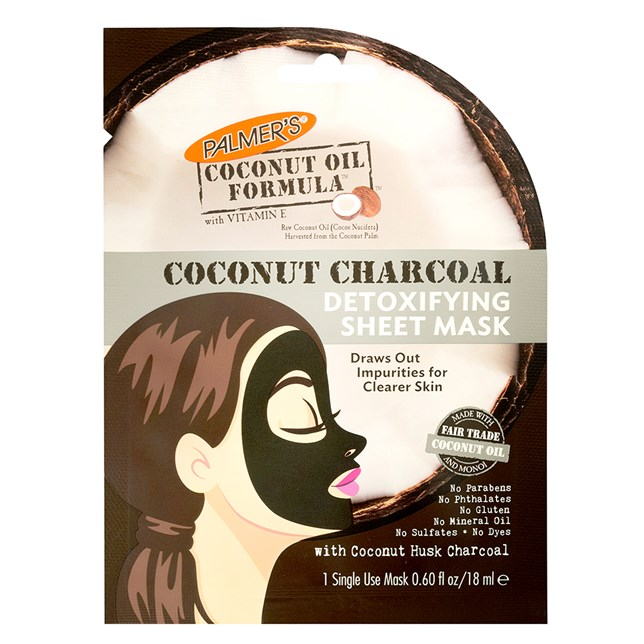 Palmer's Coconut Oil Formula Coconut Charcoal Detoxifying Sheet Mask