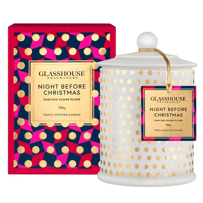 Glasshouse Night Before Christmas Candle