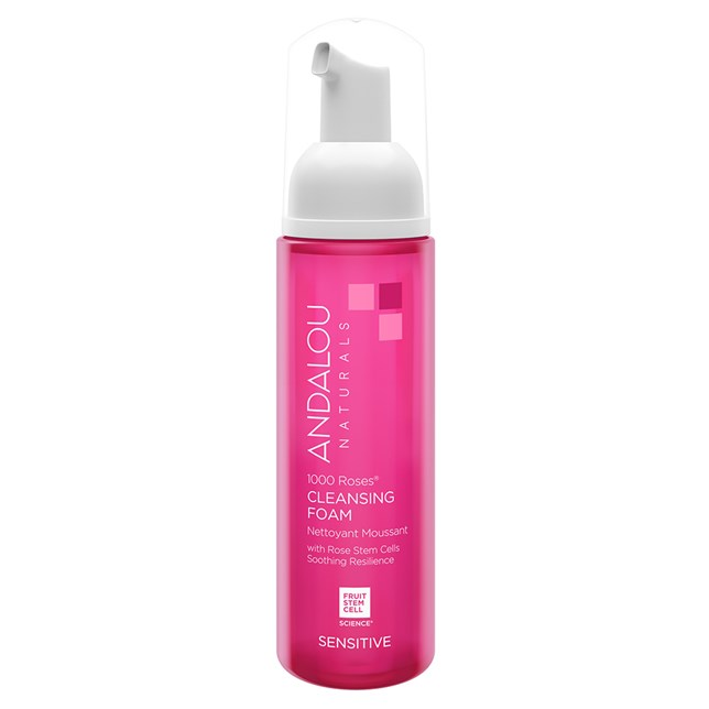 Andalou Naturals Sensitive 1000 Roses® Cleansing Foam