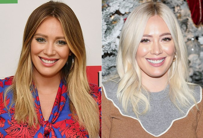 Hilary Duff Hair transformation 2018