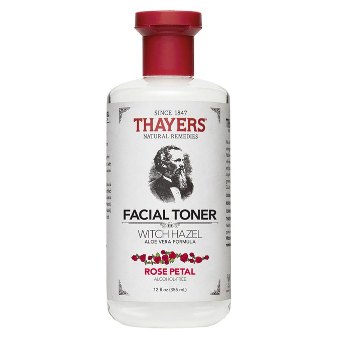 Thayer Natural Remedies Witch Hazel Aloe Vera Formula Alcohol Free Rose Petal Toner