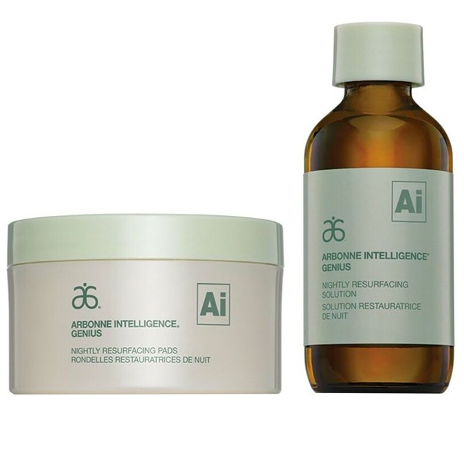 Arbonne Genius Nightly Resurfacing Pads & Solution
