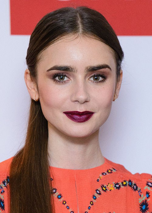 Lily Collins full brows
