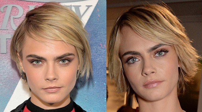 Easy Hairstyles for Short Hair - Cara Delevingne