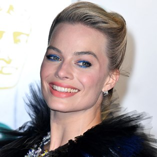 Get The Look: Margot Robbie's Glossy Blue Eyeliner 2019 BAFTAs