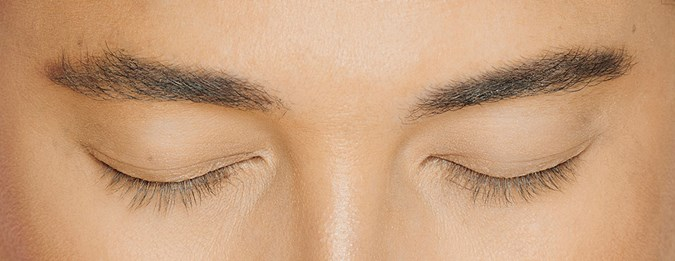 My natural lashes after using the Clinically Proven Lash Serum for 30 days