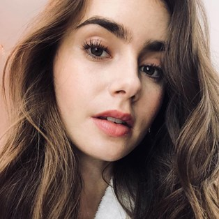 Lily Collins blackhead removal