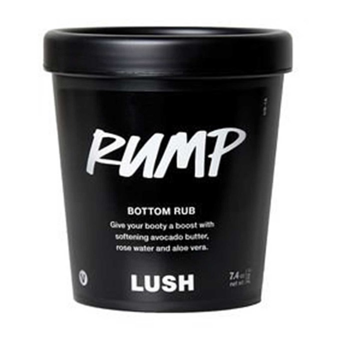Natural Butt Beauty Products Lush Cosmetics Rump Bottom Club