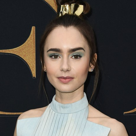 Lily Collins 60s celebrity trends