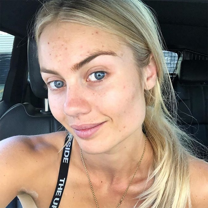 Best Celebrity Makeup Free Selfies 2019 Elyse Knowles