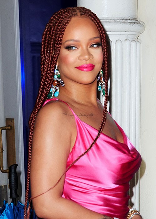 Rihanna copper hair