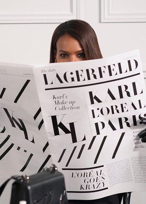 A Karl Lagerfeld x L'Oréal Paris Beauty Collaboration Is Launching Soon