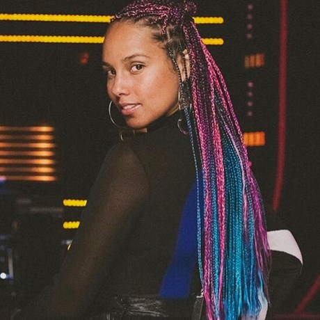 Rainbow Hair Alicia Keys