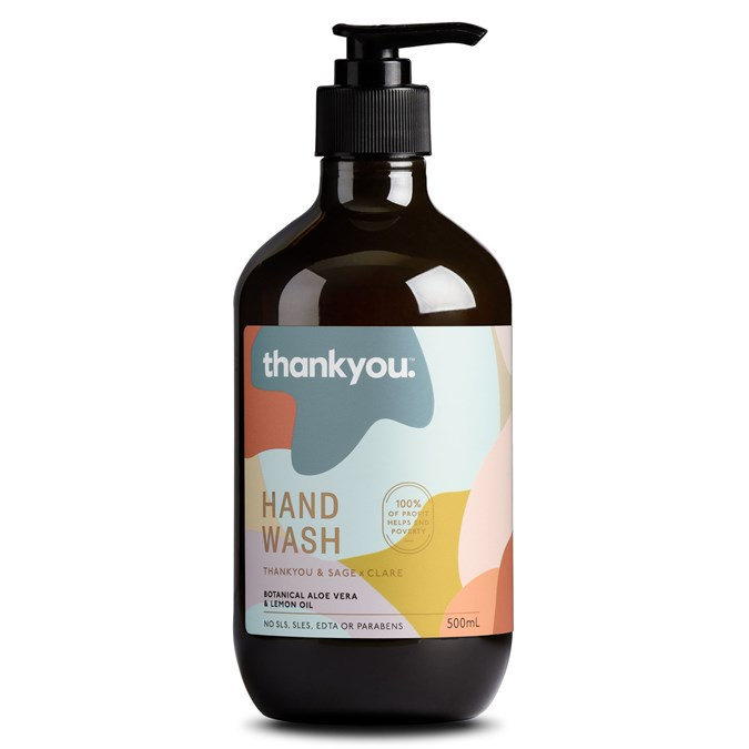 Thankyou and Sage x Clare Botanical Aloe Vera & Lemon Oil Hand Wash