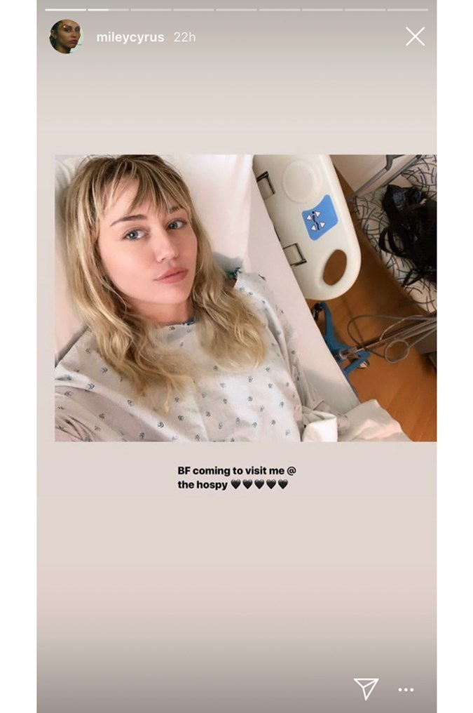 Miley Cyrus Just Shared A Selfie From Her Hospital Bed And Still Looks Stunning Beauty Crew