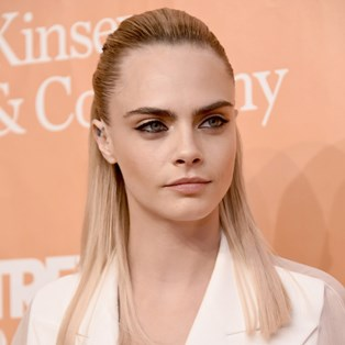 Cara Delevingne's New Metallic Silver Eye Look Is Made For Party Season
