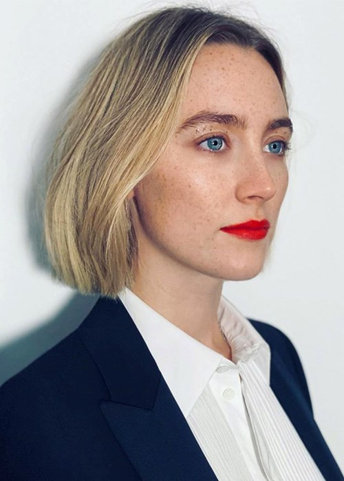 Saoirse Ronan Solid Cut Summer Hair Trend 2019