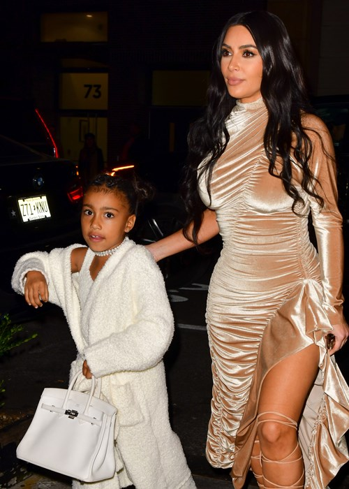 The Internet Is Blasting Kim Kardashian For Letting North West Wear Makeup On Christmas Eve