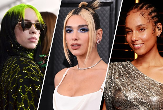 The Best Celebrity Beauty Looks From The Grammy Awards