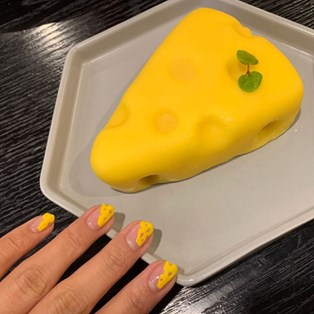 Cheese Nail Art Just Happened