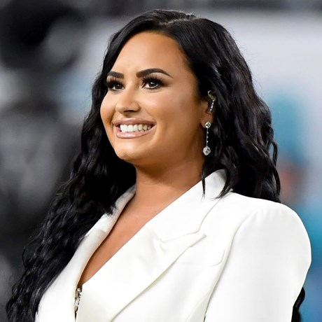 The Foundation Behind Demi Lovato's Flawless Super Bowl Skin