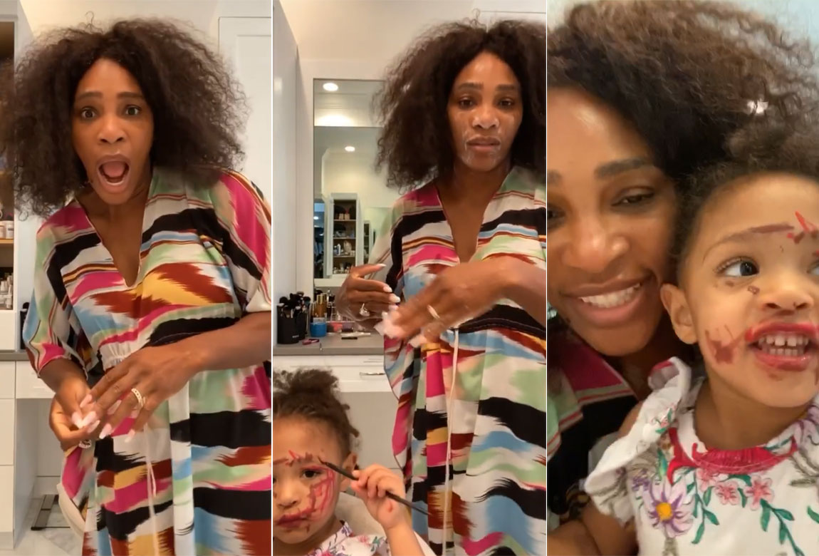 See Why Serena Williams Is Enjoying Daughter's Makeup Playtime