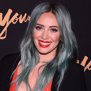 Blue Hair Colour Ideas - Hilary Duff