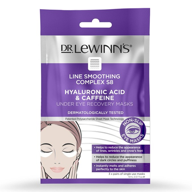 Dr Lewinns Hyaluronic & Caffeine Under Eye Recovery Masks