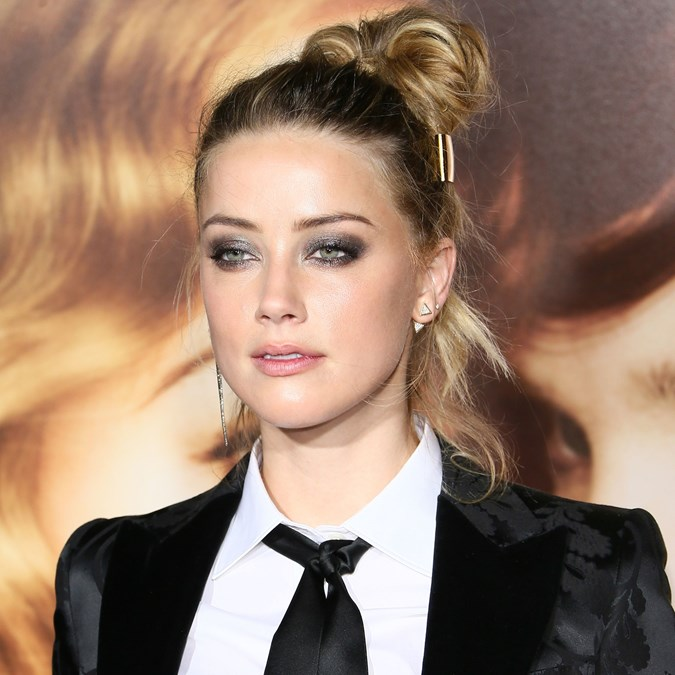 Glitter Makeup Looks - Amber Heard