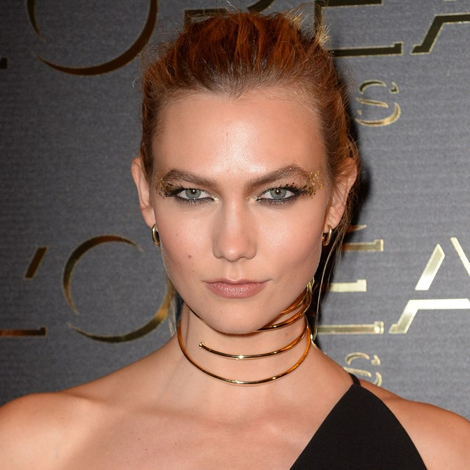Glitter Makeup Looks - Karlie Kloss