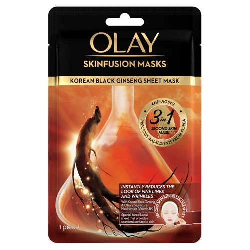 Olay Skinfusion Masks Korean Black Ginseng Sheet Mask