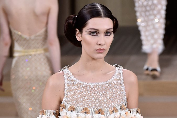 Walking in the Chanel  Couture Show at Paris Fashion Week
