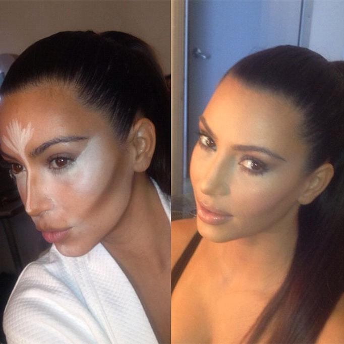 Kim Kardashian Is Over Contouring » BEAUTY/crew
