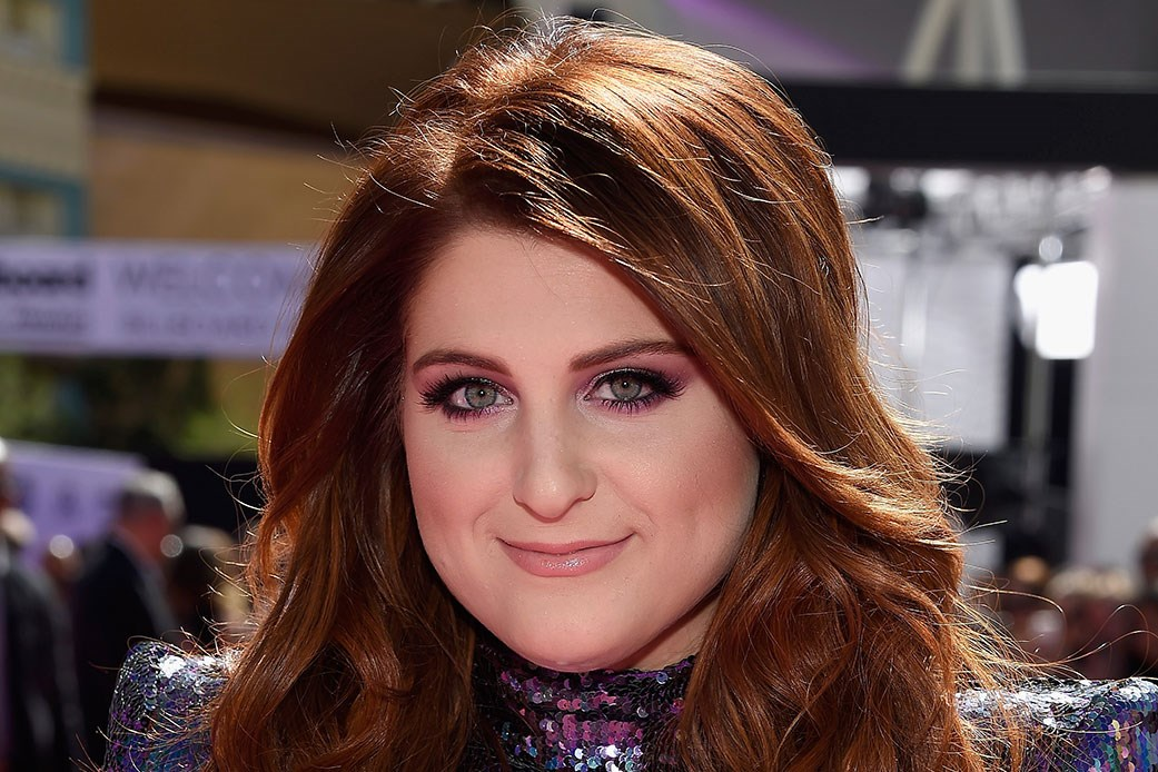 Billboard music awards purple eye makeup trend beautycrew meghan trainor publicscrutiny