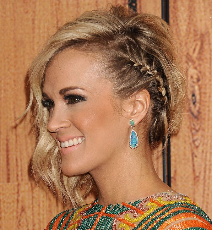 carrie underwood short haircut hair braids to copy immediately crew 2286 | carrie underwood short hair braids